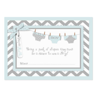 Twin Boys Tie Bow Tie Diaper Raffle Ticket Large Business Cards (Pack Of 100)