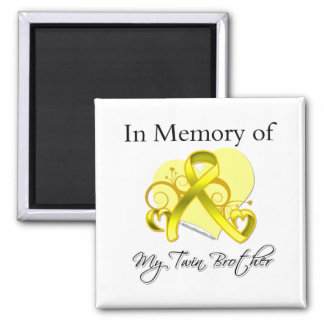 Twin Brother - In Memory of Military Tribute Square Magnet