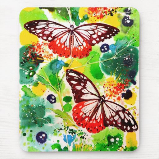 Twin Butterflies Mouse Pad