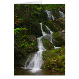 Twin Cascade Berkshires Waterfall Card