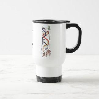 Twin Chinese Dragons Mug