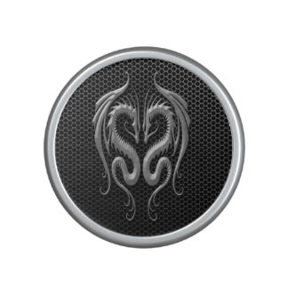 Twin Dragons with Steel Mesh Effect Bluetooth Speaker