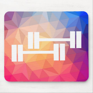 Twin Dumbbells Pictogram Mouse Pad