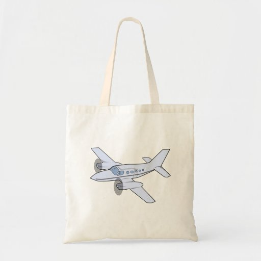 Twin-Engine Airplane Tote Bags