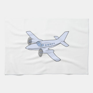Twin-Engine Airplane Tea Towels