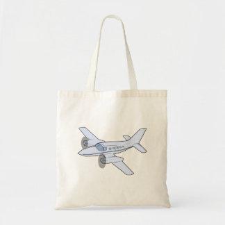 Twin-Engine Airplane Budget Tote Bag