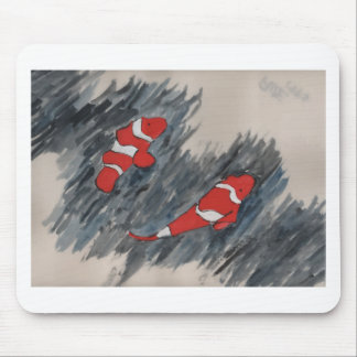 Twin fish mouse pad