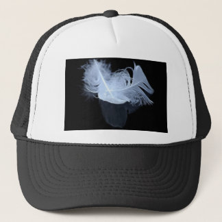 Twin flame feathers and reflection trucker hat