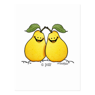 Twin fruits - Perfect Pair Postcard
