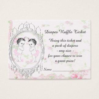 Twin Girl Diaper Raffle Tickets