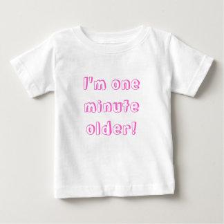 Twin Girl I'm one minute older! Tee Shirt