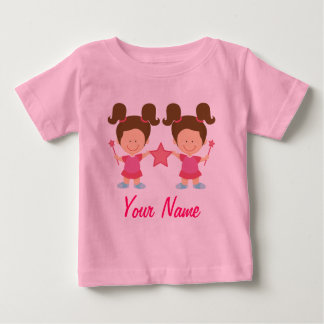 Twin Girl Personalized Gift Baby T-Shirt