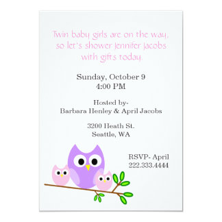 Twin Girls Baby Shower Invitation