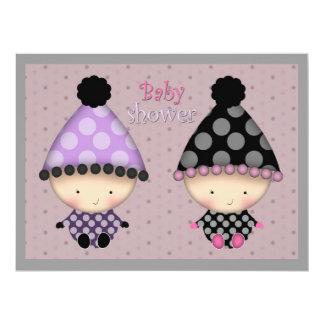 "Twin Girls Baby Shower Invitations 6.5"" X 8.75"" Invitation Card"