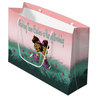 """Twin Girls Birthday Gift Bag Large"""