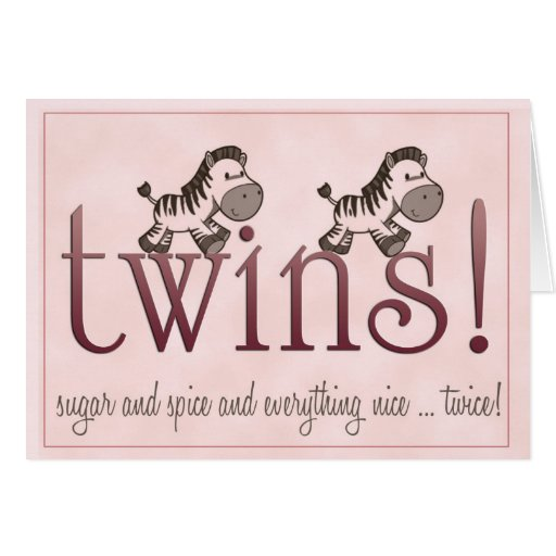 Twin Girls! Cards
