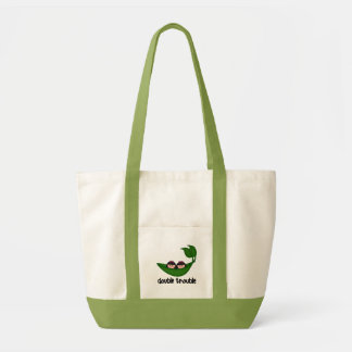 Twin Girls Double Trouble Peapod Tote Bag