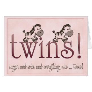 Twin Girls! Greeting Card