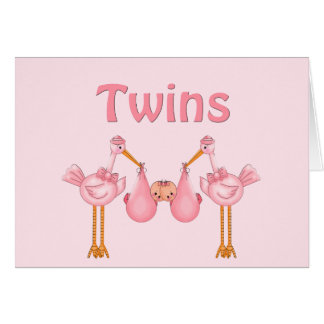 Twin Girls Greeting Card