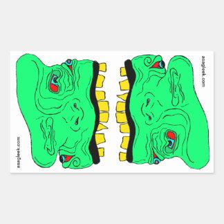 Twin Goblin Heads Sticker