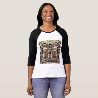 Twin Ground Squirrels Women's Raglan Tee Shirt