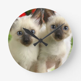 Twin Kittens Wall Clocks