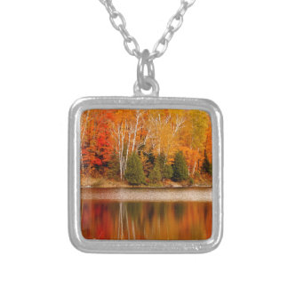 Twin Lakes Fall Colours, St Joseph Island Silver Plated Necklace