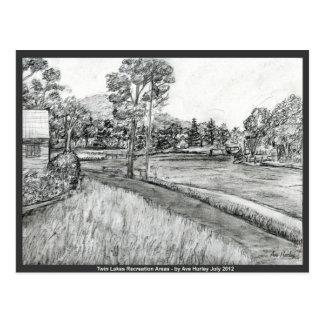 Twin Lakes Recreation Areas ~ NoWest Pennsylvania Postcard