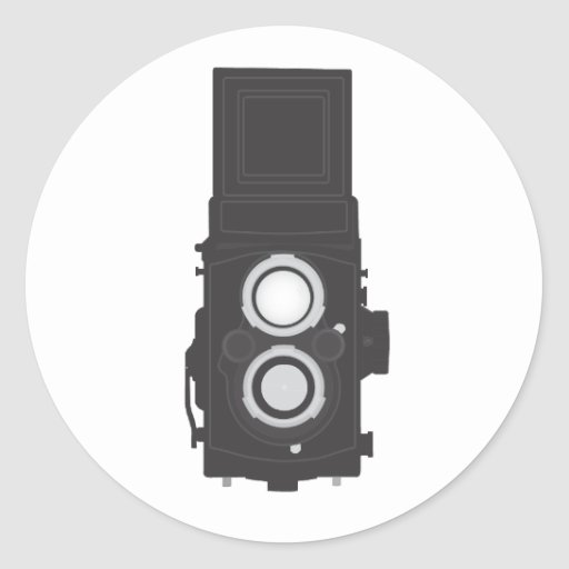 Twin-Lens Reflex Camera (TLR) Stickers