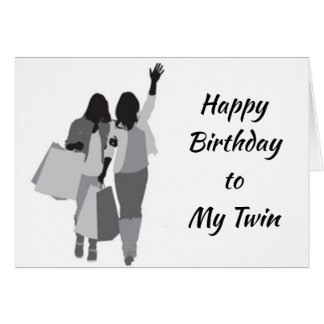 "***TWIN*** LOOKS ""FABULOUS"" on ""YOUR BIRTHDAY"" Card"