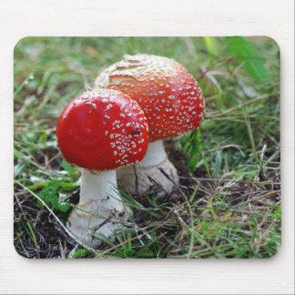 Twin Magic Mushrooms Mouse Pad