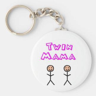 Twin mama key ring
