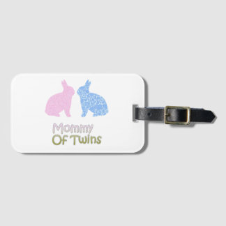 Twin Mommy Luggage Tag