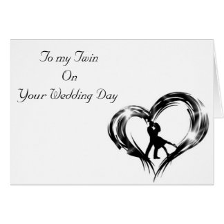 TWIN-ON YOUR WEDDING DAY-DANCING COUPLE GREETING CARD