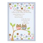 Twin Owl Baby Shower Invitation 13 Cm X 18 Cm Invitation Card
