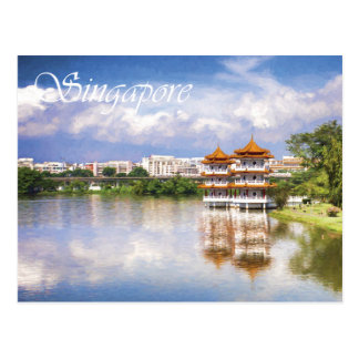 Twin Pagodas at the Chinese Gardens, Singapore Postcard