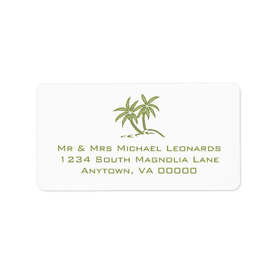 Twin Palm Tree RSVP Address Labels