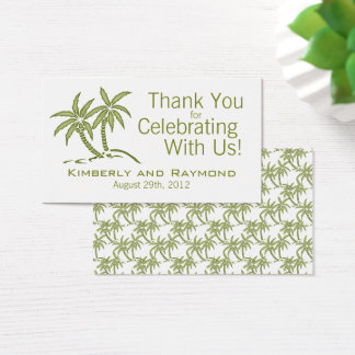 Twin Palm Trees Wedding Favor Tags