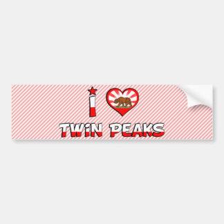 Twin Peaks, CA Bumper Sticker