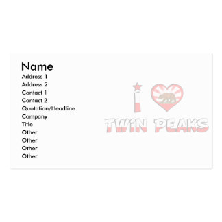 Twin Peaks, CA Business Card Templates