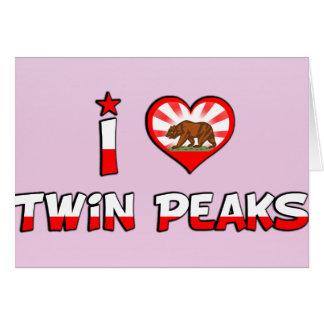 Twin Peaks, CA Greeting Card