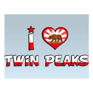 Twin Peaks, CA Post Card