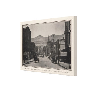Twin Peaks from proposed square, 23rd & Howard Canvas Print