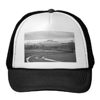 Twin Peaks Mt Meeker and Longs Peak BW Country Trucker Hats