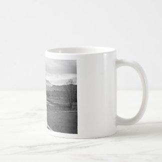 Twin Peaks Mt Meeker and Longs Peak BW Country Coffee Mug