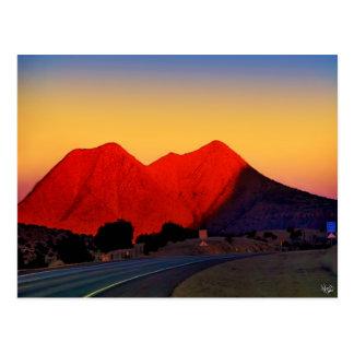 Twin Peaks or Sister Peaks, Alpine, TX Postcard