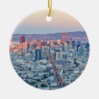 Twin Peaks San Fransisco Ceramic Ornament