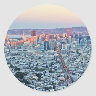 Twin Peaks San Fransisco Classic Round Sticker