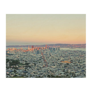 Twin Peaks San Fransisco Wood Canvas