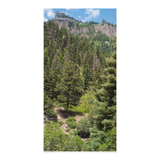 Twin Peaks Towers over Ouray, Colorado Photo Cards